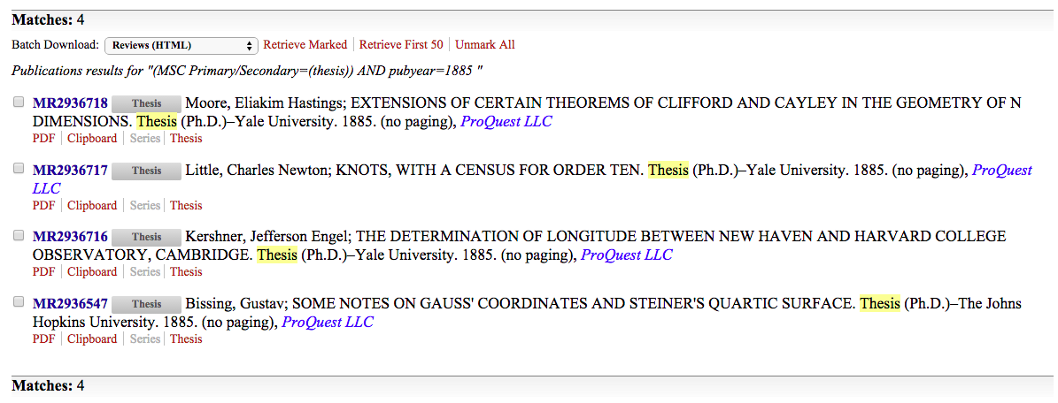 Screen Shot Thesis results 1885