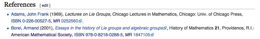 Screen Shot Wikipedia - MR adams added