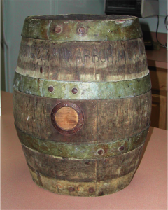A keg from the Ann Arbor Brewing Company