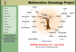 Math Genealogy Project records 200,000 PhDs in Mathematics