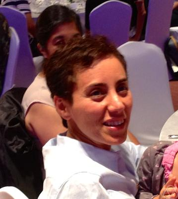 Maryam Mirzakhani at ICM 2014