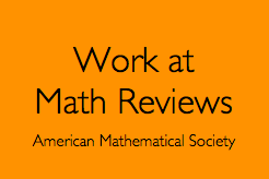 Work at Math Reviews