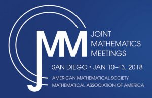 Logo for the 2018 JMM in San Diego