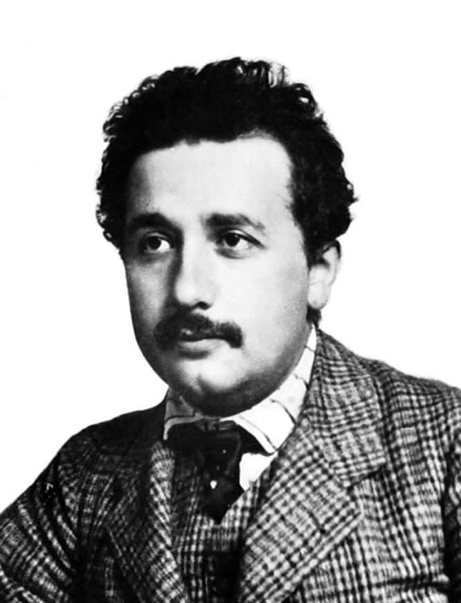 Portrait of Albert Einstein. 1904 or 1905