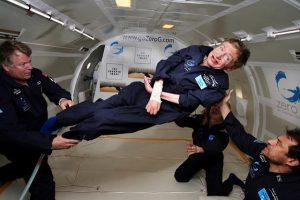 Stephen Hawking in a Zero G plane