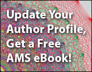 Update your Author Profile, get a free AMS eBook