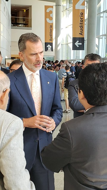 King Felipe of Spain with mathematicians at ICIAM 2019