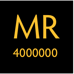 "Stylized ""MR4000000"""