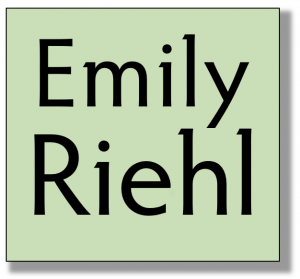 """Emily Riehl"" name in a box"