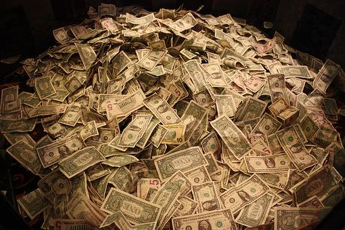 Money. Image: Nick Eres, via flickr.