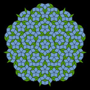 A Penrose tiling. Image: Inductiveload, via WIkimedia Commons. (Public domain.)