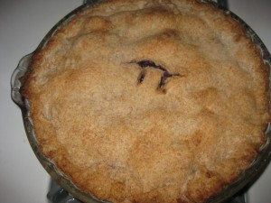 my blueberry pi pie