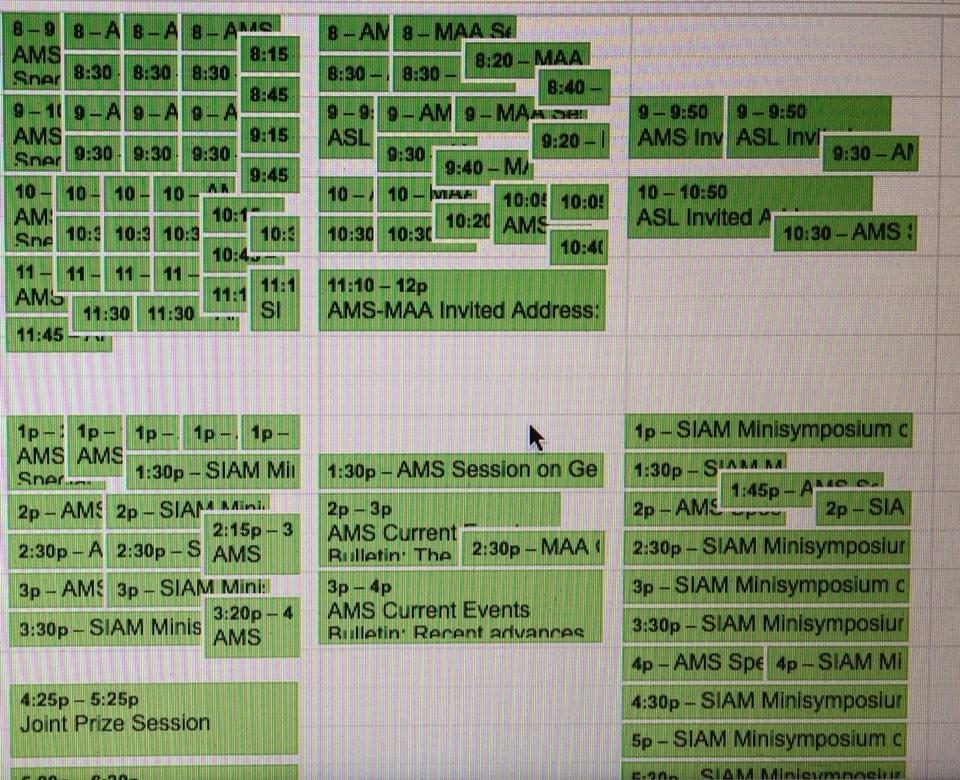 Alexi JMM schedule