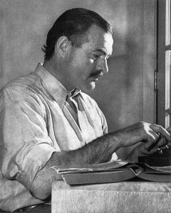 Ernest Hemingway in 1939. Public domain photo, Wikimedia Commons.