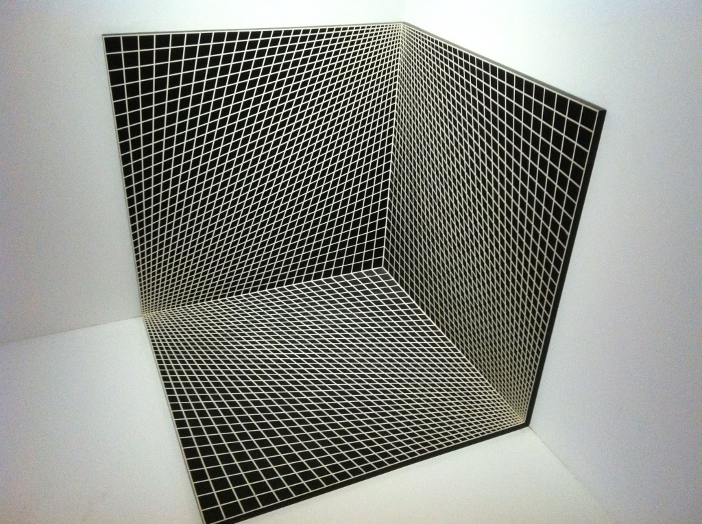 """Concave and Convex: Three Unit Dimensional"", by Richard Anuszkiewicz."