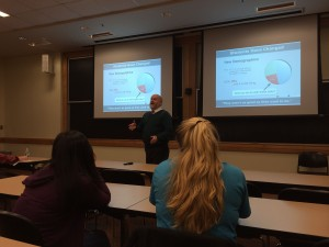 Robert Beichner talks to Bates faculty about SCALE-UP.