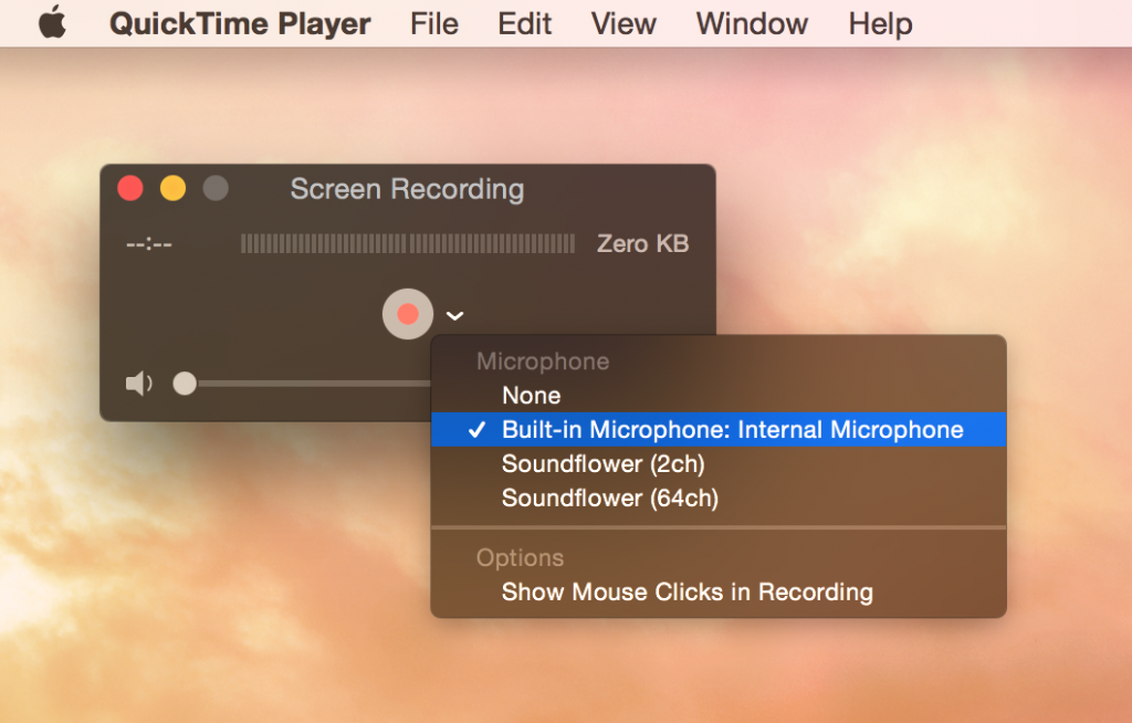 Screen Shot of QuickTime Player settings