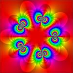 Atomic Singular Inner Function with Atoms at Fifth Roots of Unity - Elias Wegert, www.visual.wegert.com