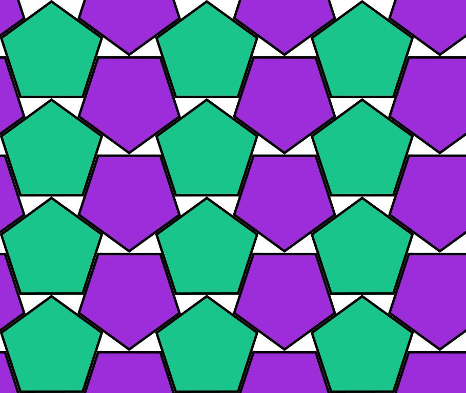 Densest Double Lattice Packing of Regular Pentagons - Toby Hudson