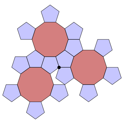 Pentagon-Decagon Branched Covering (Stage 3) - Greg Egan