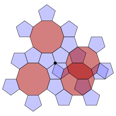 Pentagon-Decagon Branched Covering (Stage 4) - Greg Egan