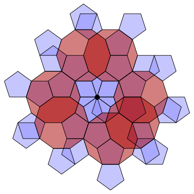 Pentagon-Decagon Branched Covering (Stage 7) - Greg Egan