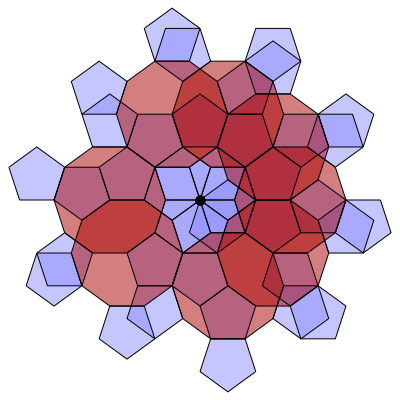 Pentagon-Decagon Branched Covering (Stage 8) - Greg Egan