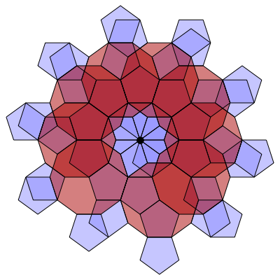 Pentagon-Decagon Branched Covering (Stage 9) - Greg Egan