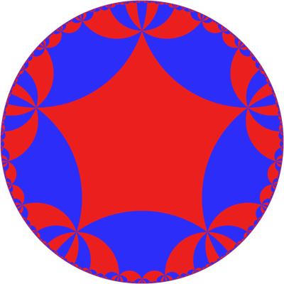 {5,10} Tiling of Hyperbolic Plane - Greg Egan