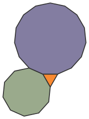 Regular Polygons Meeting at Vertex: 3.10.15