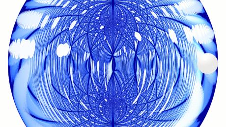Sphere in Mirrored Spheroid - Robert Figura