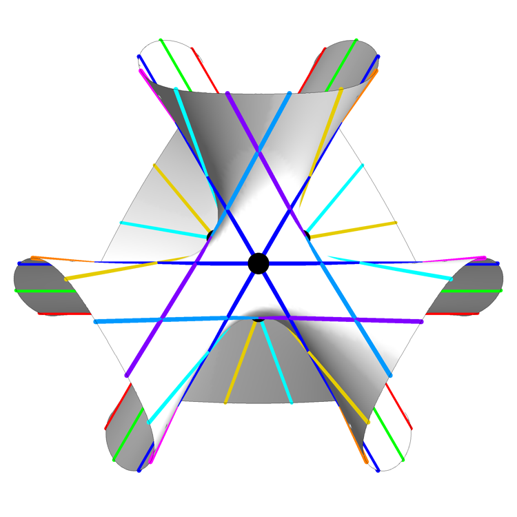 Clebsch Cubic (Symmetric Still View) - Greg Egan