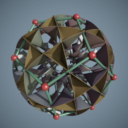 Compressed Barth Decic with Dodecahedron - Abdelaziz Nait Merzouk