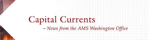 Capital Currents: News from the AMS Washington Office